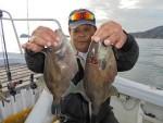 ウマズラ、メバル共に良型釣れました。